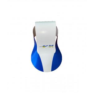 Бумажная кепка летняя IIC2401-2 бело-синяя One sizе с регулировкой размера