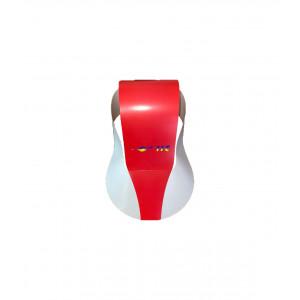 Бумажная кепка летняя IIC2401-1 красно-белая One sizе с регулировкой размера