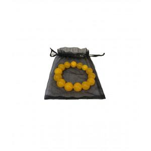 Браслет Sunshine из натурального янтаря на нитке 13,67 гр. L-18 см. К3303/1