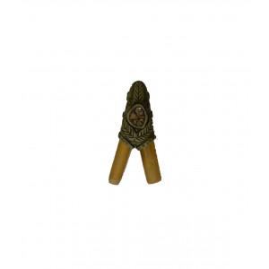 Трубка для Рапе (рапэ) ShamanShop Курипи Бамбуковое с аппликацией из айяауаски (Kuripe) К122/1