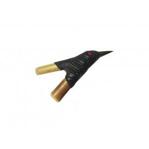 Трубка для Рапе (рапэ) ShamanShop Курипи Бамбук, полимерная глина